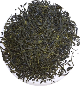 dry sencha oveture tea leaves