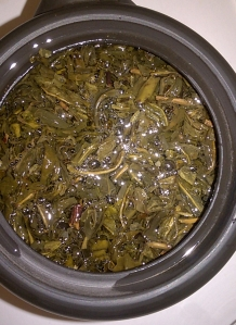 Infusing White Tip Jasmine tea leaves